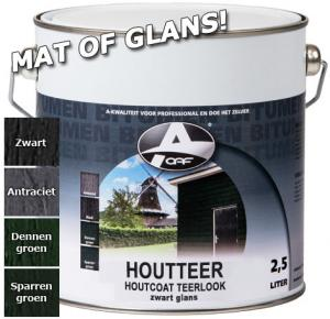 OAF Houtteer Houtcoat Teerlook Glans Sparrengroen 25 Ltr