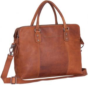 Chesterfield Schoudertas Laptop Maria 15.4 Cognac