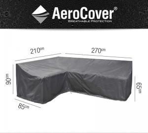AeroCover Loungesethoes Hoekset Links 270x210x85xh65/90 - Antrac