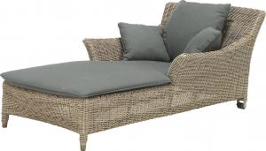 4 Seasons Outdoor Valentine Ligbed One Seater Met Kussens - Pure