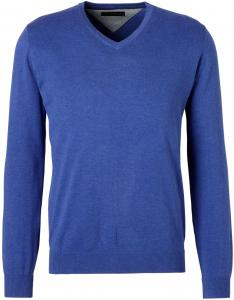 Michaelis Trui Royaal Blauw V-Hals Slim Fit