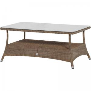 4 Seasons Outdoor Sussex Salontafel 140 X 90 Cm Met Glas