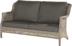 4 Seasons Outdoor Del Mar Loungebank 2.5 Zits Met Kussens - Pure