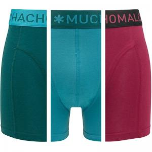 Muchachomalo 3-pack Solid Boxershorts Groen Turquise Rood