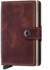 Secrid Mini Wallet Portemonnee Brown Vintage Leather