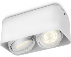 Philips MyLiving LED-spotlight Kubus Afzelia Wit 2x45 W 53202311