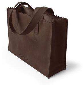 Myomy My Paper Bag Handbag Zip Dark Chocolat