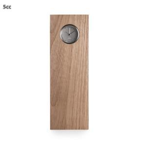LEFF Amsterdam Tube Wood Clock - Steel/natural Hevea