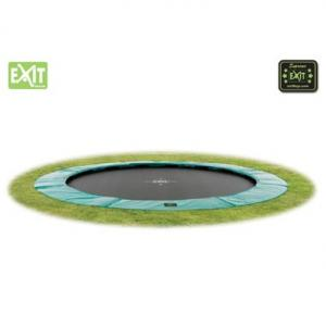 EXIT Supreme Ground Level Ingraaftrampoline Rond - 366 Cm Zwart/