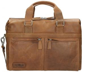 Plevier Crunch Leather Documententas 15.6 Cognac