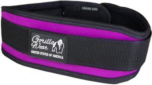 Gorilla Wear Womens Lifting Belt Black/ Purple - M