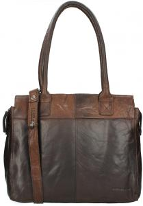 Spikes & Sparrow Bronco Dames Business Tas Dark Brown