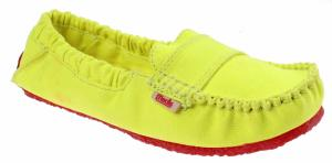 Mocks Saddle Canvas Instappers Dames Geel Mt 36