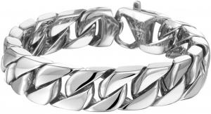 The Jewelry Collection Armband Gourmet 20 Cm - Staal