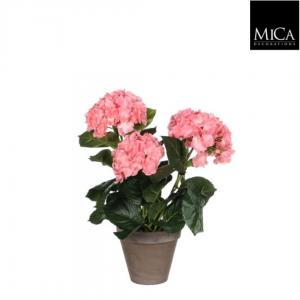 Hortensia Roze H 40 D 35 In Pot Grijs Stan Mica Decorations Edel
