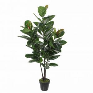 Mica Decorations Rubberplant In Pot Maat Cm: 130 X 50