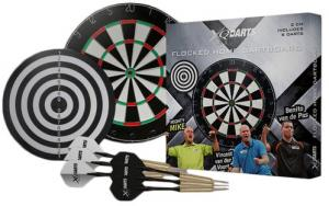 XQ Max Dartboard Trio Flocked - Grijs