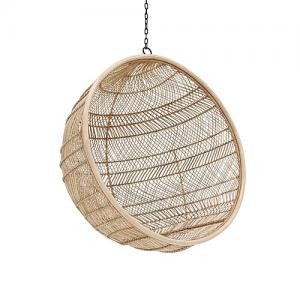 HK Living Hangstoel Bohemain Rotan Bal Naturel 63 X