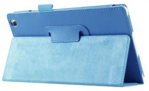 Shop4 - Lenovo Tab 3 8 Hoes Book Cover Lychee Licht Blauw