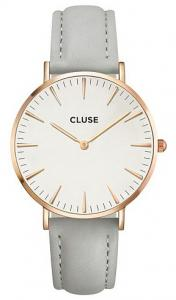 Cluse Horloge La Boh Rosegold-white-grey 38 Mm CL18015