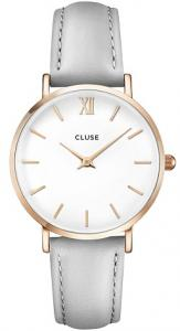 Cluse Minuit Rose Gold Horloge - White/Grey