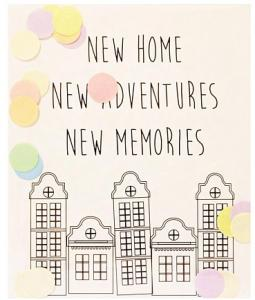 The Gift Label Confetti Kaart - New Home Adventures