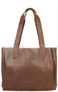 Myomy Paper Bag Handbag Reddish Brown
