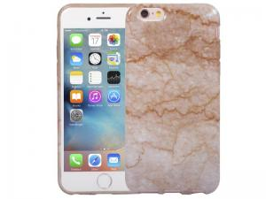 Marmer IPhone 6 En 6S Hoesje Marble Taupe Siliconen