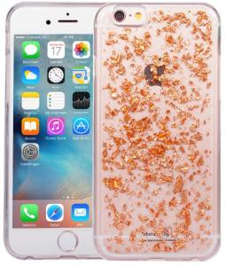IPhone 6/6S Glitter Hoesje Snippers Rose Goud