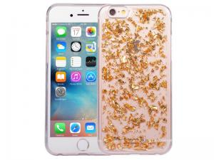 IPhone 6/6S Glitter Hoesje Snippers Goud