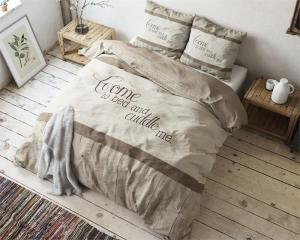 Sleeptime Come And Cuddle Taupe 140x200/220cm Dekbedovertrek