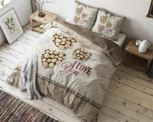 Sleeptime I Wood You Taupe 200x200/220cm Dekbedovertrek