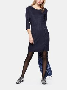 Suedine Zip Dress