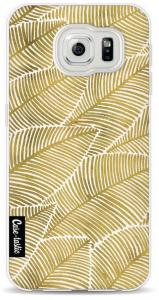 Softcover Samsung Galaxy S6 - Tropical Leaves Gold