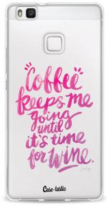 Softcover Huawei P9 Lite - Coffee Wine Pink