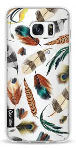 Casetastic Softcover Samsung Galaxy S7 Edge Feathers Multi