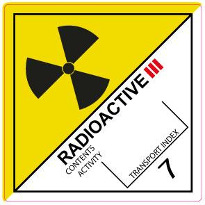 IMO ADR 7.3 Radioactive III Labels