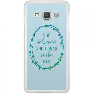 Samsung Galaxy A3 Hoesje - She Believed And So She Did