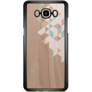 Samsung Galaxy J5 2016 Hoesje - Geo Blocks On Wood