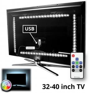 TV Led Strip Set Met 4 RGB Strips Voor Van 32 Tot 40 Inch