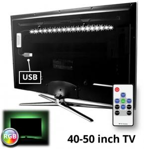 TV Led Strip Set Met 1 RGB Voor Van 40 Tot 50 Inch