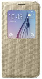 Samsung Galaxy S6 S-View Cover Canvas - Goud