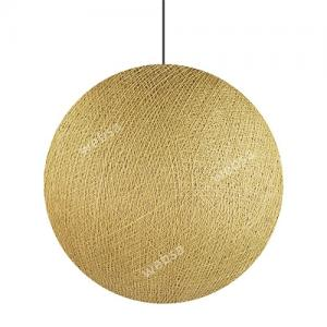 Cotton Ball Lights Lamp Beige 36cm