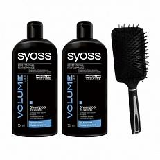 Syoss Shampoo Volume Lift + Haarborstel