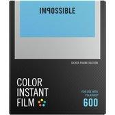 Impossible Color Film For Polaroid 600 Silver Frame (9120066085276)