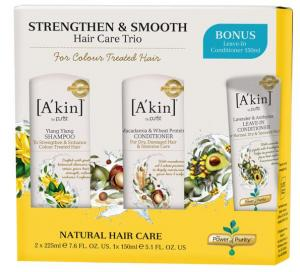 A Strengthen & Smooth Hair Care Trio Worth .00