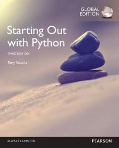 Starting Out With Python Global Edition (9781292065502)